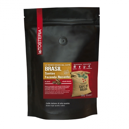 BRA-9-R-Caffè-di-singola-origine-Brasil-Santos-Fazenda-Recanto-/-busta-250-gr.-grani